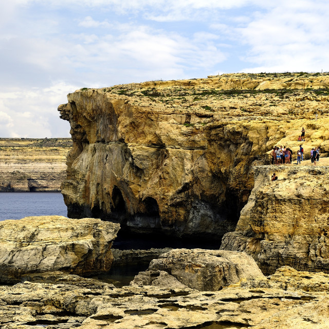 """""""The ruins of the Azure Window"""" stock image"""