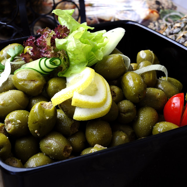 """""""Olives on the lunch table"""" stock image"""