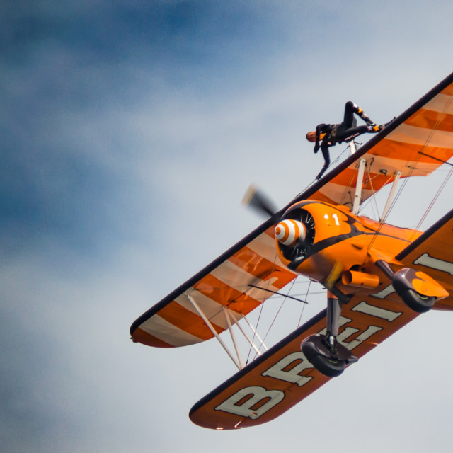 """Breitling Wing Walker on side"" stock image"