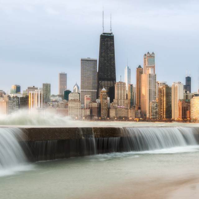 """Chicago Spring Storm"" stock image"