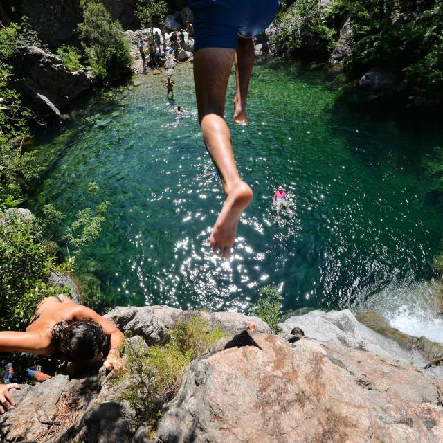 """Leap of faith"" stock image"
