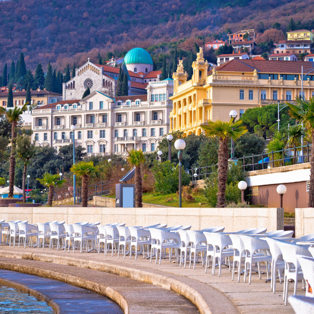 """""""Town of Opatija waterfront view"""" stock image"""