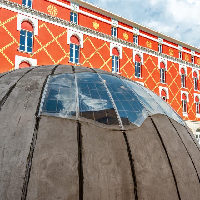 """""""Bunker in the Center of Tirana, Albania"""" stock image"""
