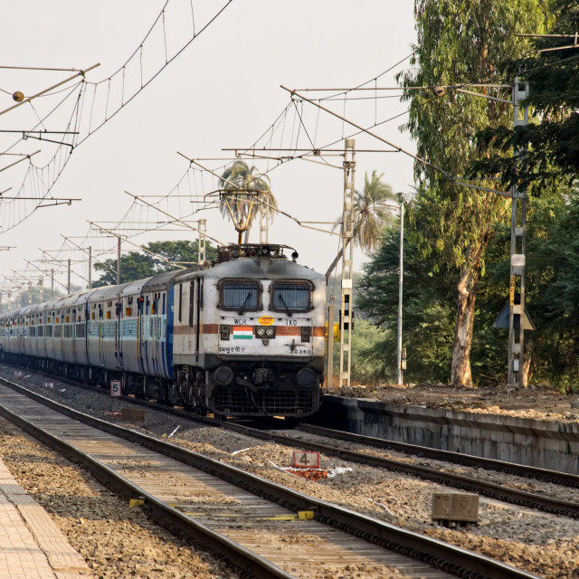 """Trains India"" stock image"