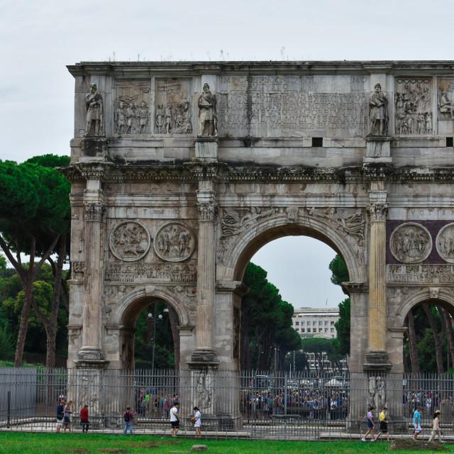 """""""Arco di Constantino in Roma"""" stock image"""