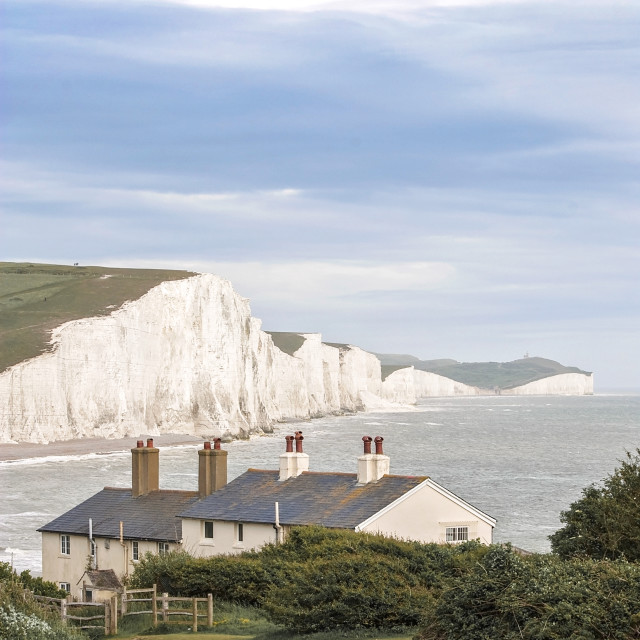 """Seven Sisters Cliffs"" stock image"