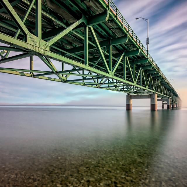 """Bridge into the Fog"" stock image"