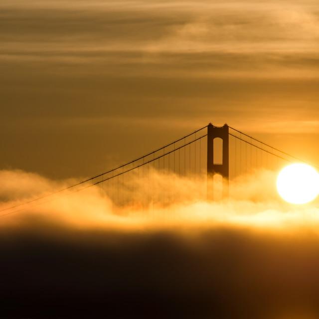 """""""Mackinac Sunrise"""" stock image"""