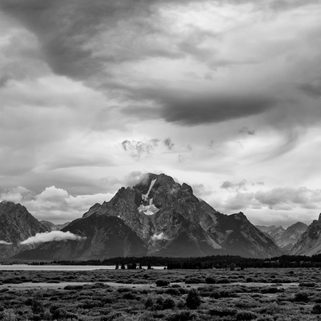 """Stormy Evening in the Tetons"" stock image"