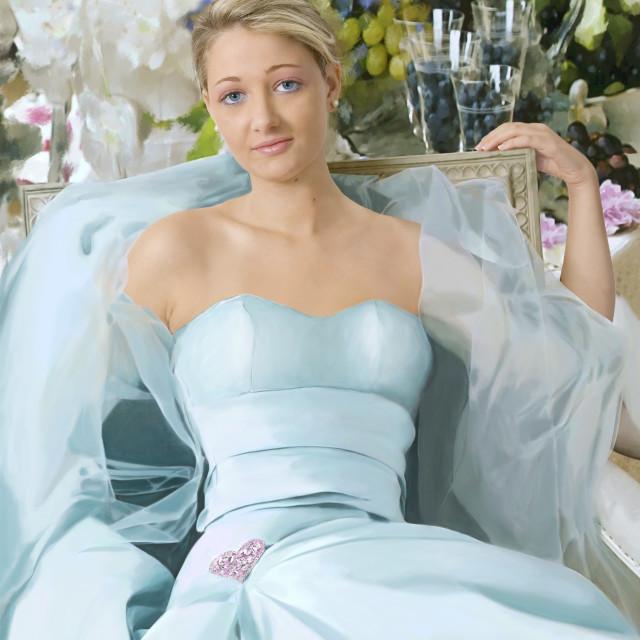 """Valentina in azzurro"" stock image"