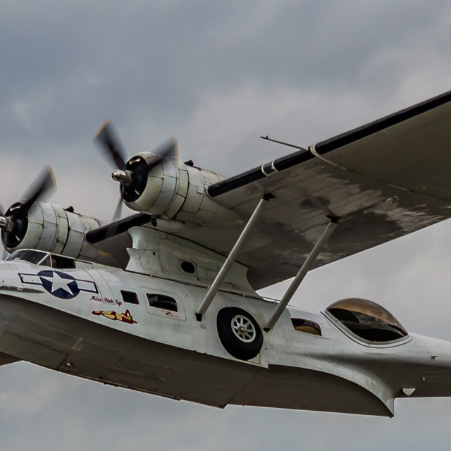 """Consolidated PBY Catalina RAF Scampton 2017"" stock image"