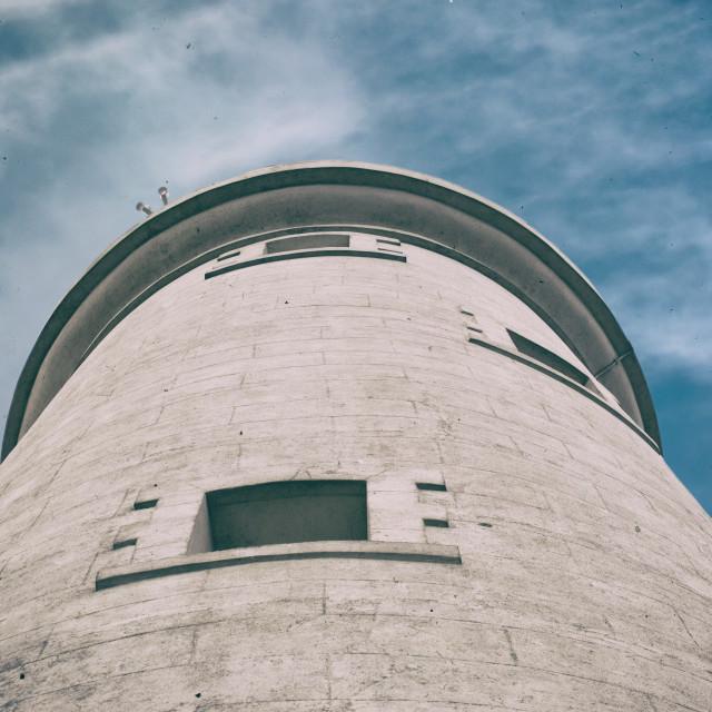 """Whitley Bay St Marys Lighthouse Vintage"" stock image"