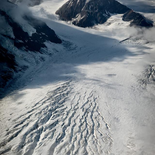 """Glacier rift"" stock image"
