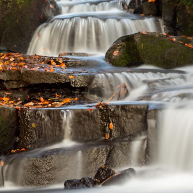 """""""Autumn Waterfall"""" stock image"""