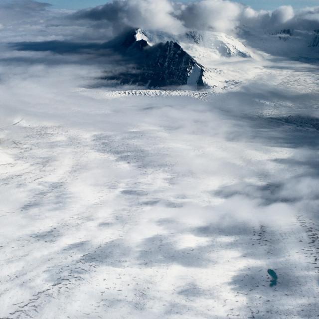 """Glacier Plain"" stock image"