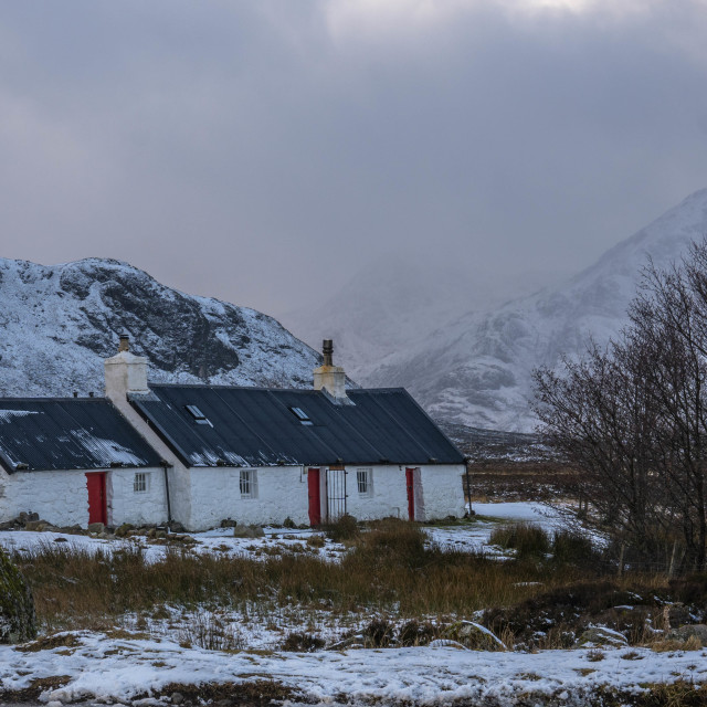 """Black Rock Cottage, glencoe"" stock image"