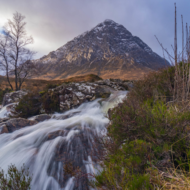 """glen coe waterfall"" stock image"