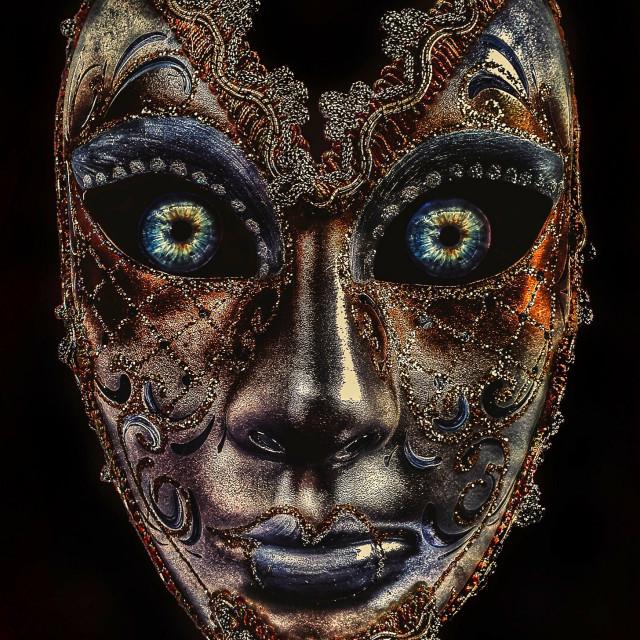 """""""Realistic Venetian Mask"""" stock image"""