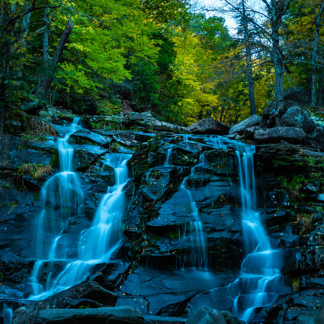 """Catskills Waterfall"" stock image"