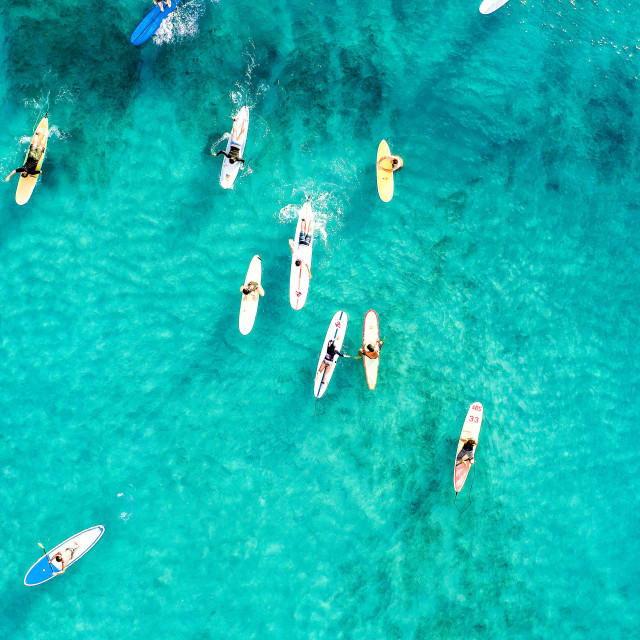 """Waikiki Surfers"" stock image"