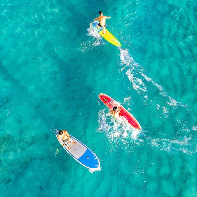 """Surfers"" stock image"