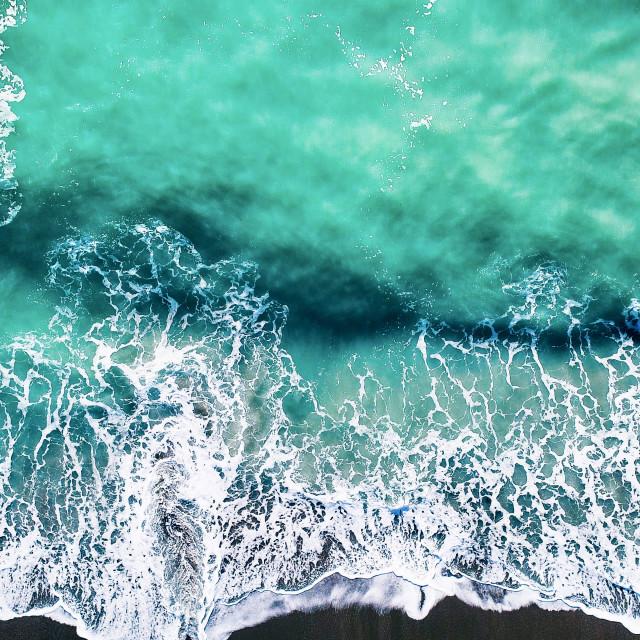 """Black Sand Beach"" stock image"