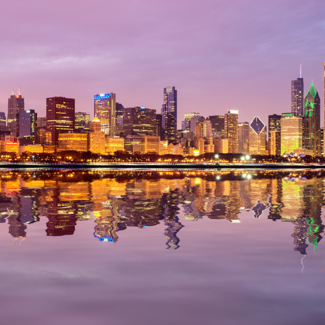 """""""Chicago New Year"""" stock image"""