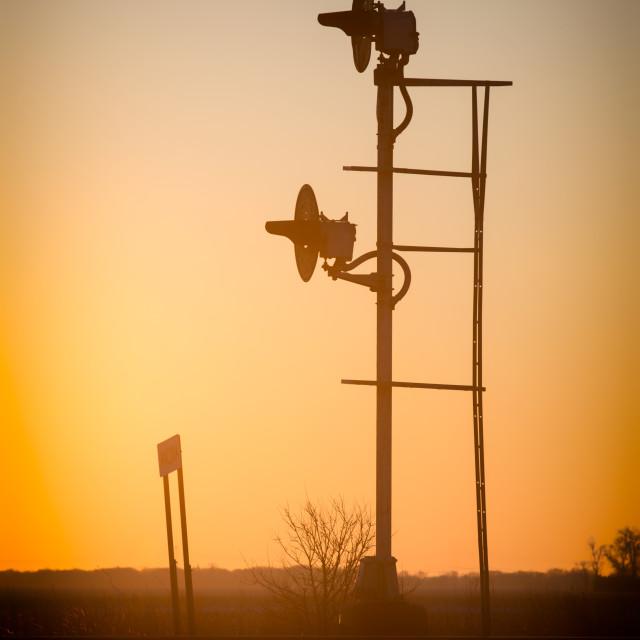 """Sunset on the Santa Fe"" stock image"