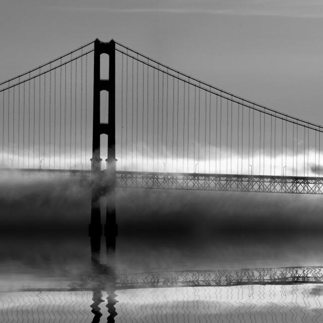 """Mackinac Bridge in Fog"" stock image"