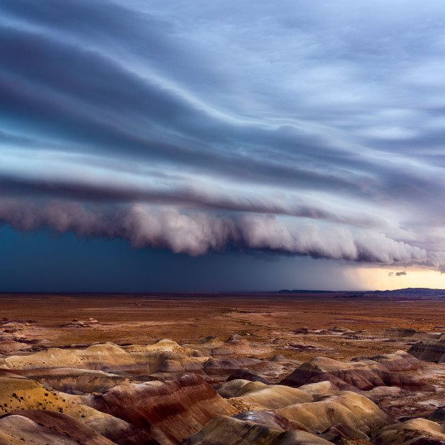 """Thunderstom shelf cloud"" stock image"