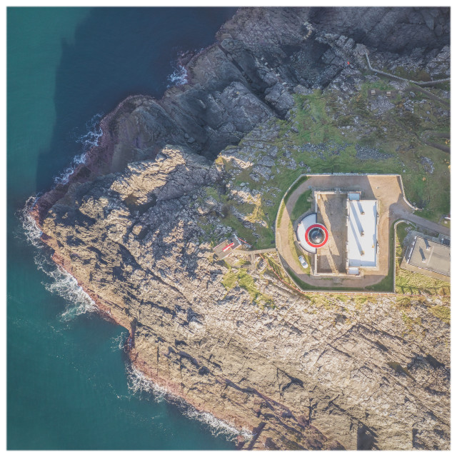 """Lighthouse From Above"" stock image"