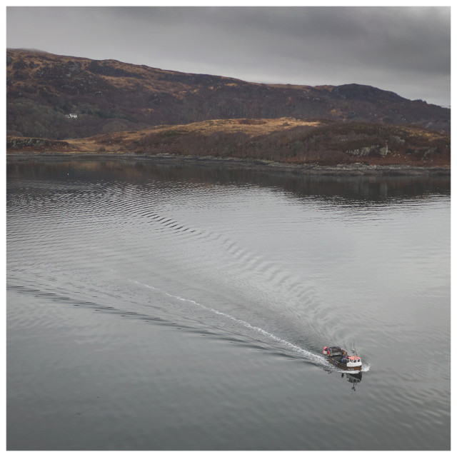 """Ardnamurchan Fishing Boat"" stock image"