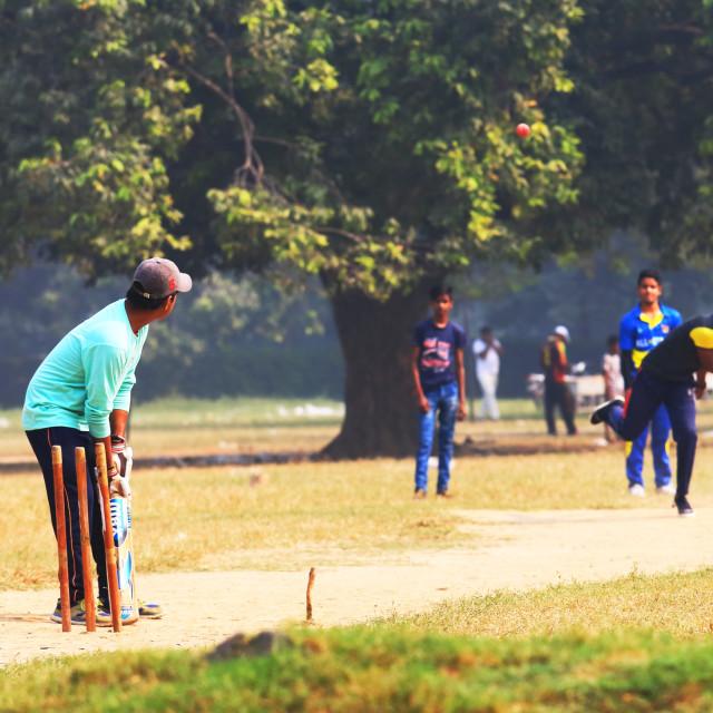 """Cricket sport New Delhi India"" stock image"
