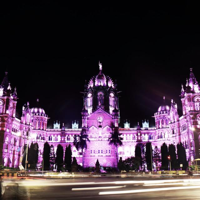 """""""Mumbai CST train station historical architecture Mumbai India"""" stock image"""