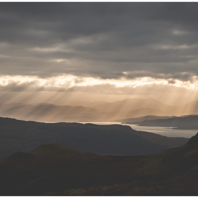 """Light over Tobermory"" stock image"