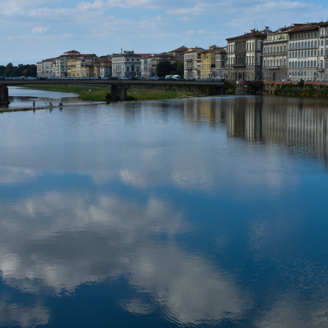 """""""Florence on the River Arno"""" stock image"""