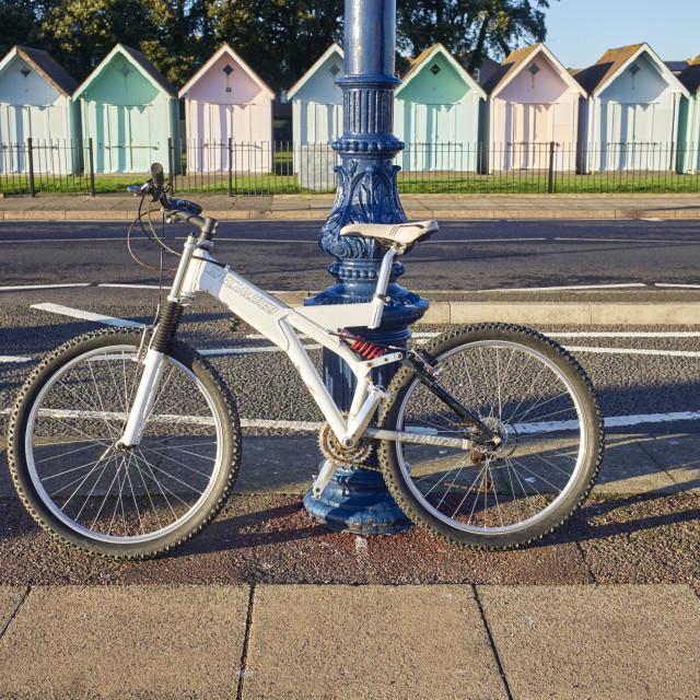 """""""Specialized ground control FSR bike"""" stock image"""