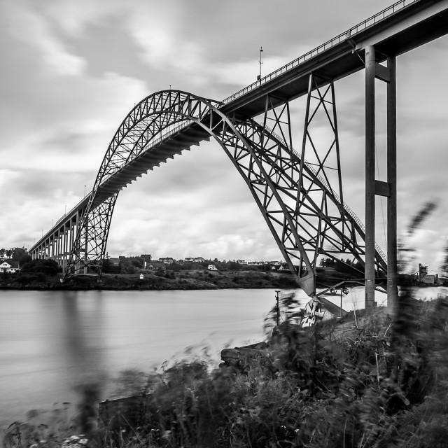 """Karmsund Bridge, Karmoy, Norway"" stock image"