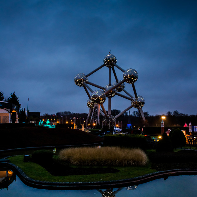 """The Atomium, Brussels"" stock image"