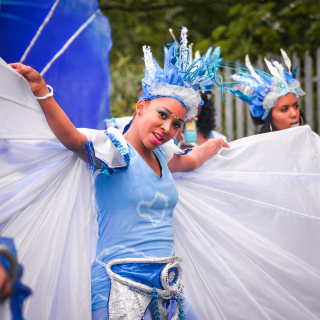 """""""Young Girl at Leeds Carnival"""" stock image"""