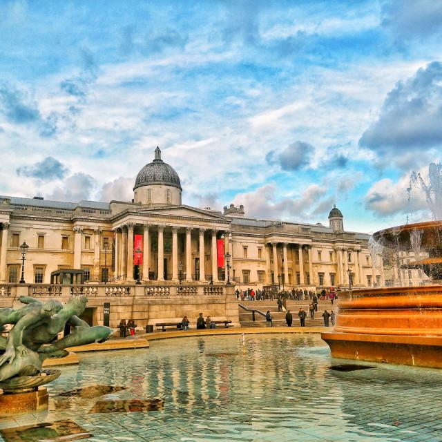 """Trafalgar Square"" stock image"