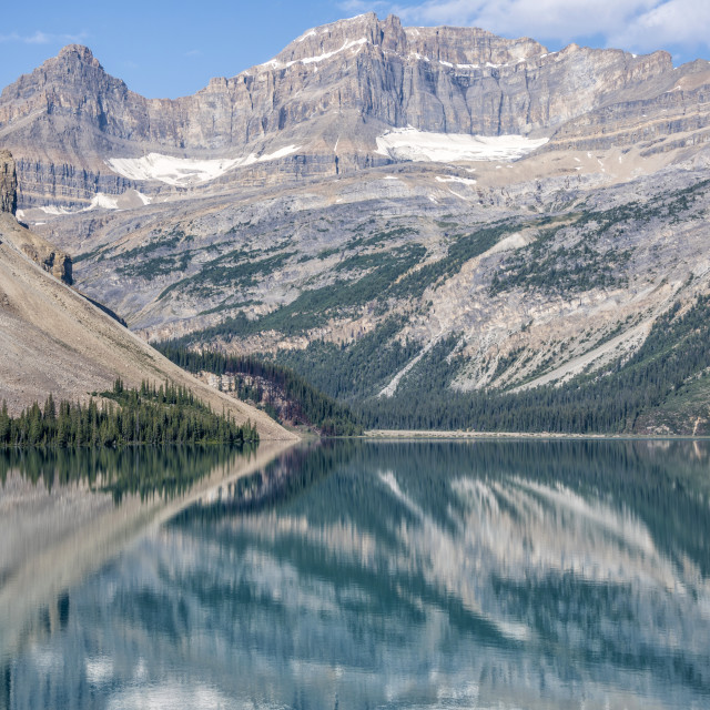 """Bow Lake Reflections"" stock image"