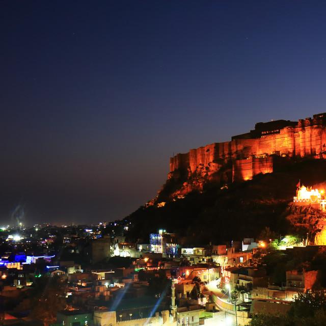 """""""Mehrangarh Fort night view Jodhpur India"""" stock image"""
