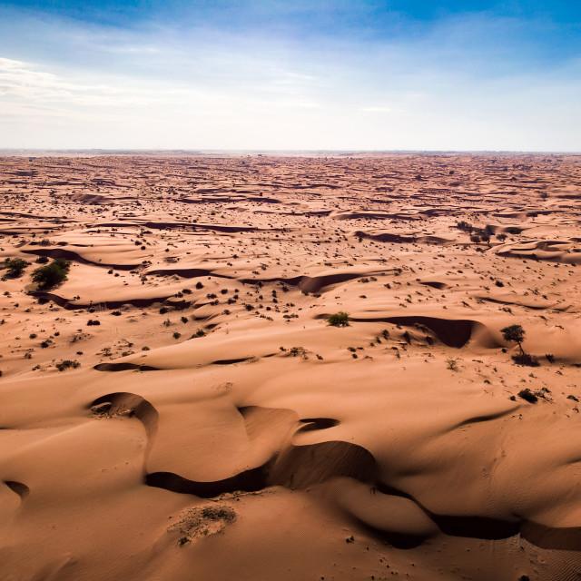 """Desert landscape aerial view"" stock image"