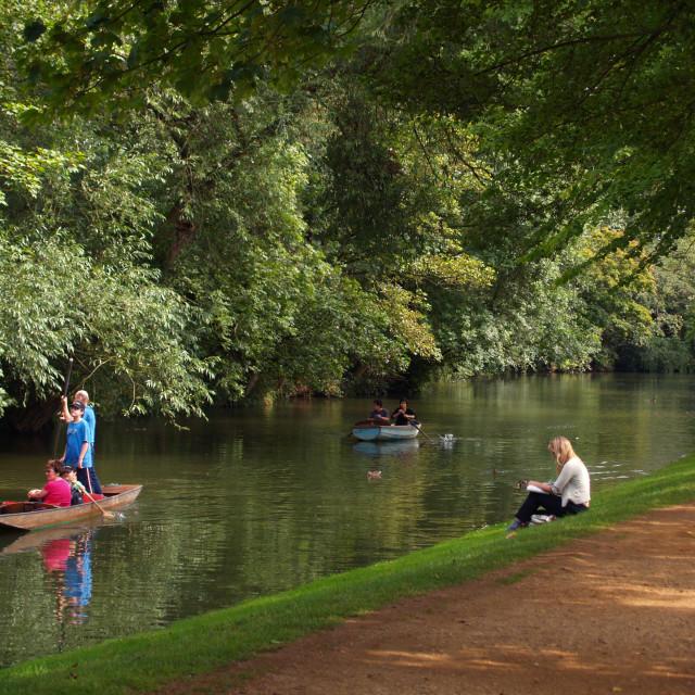"""River Cherwell leisure"" stock image"