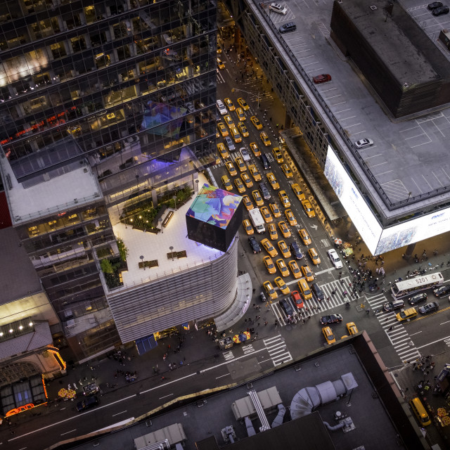 """""""Taxi Jam from above"""" stock image"""