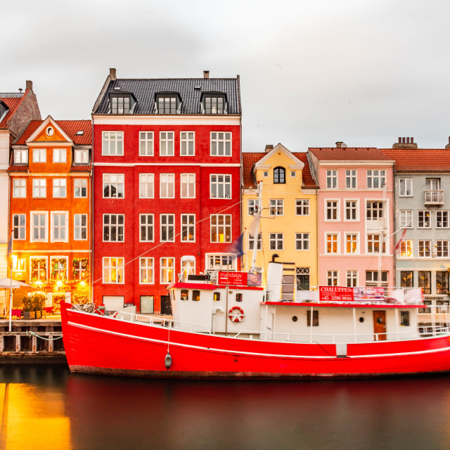 """Nyhavn Canal"" stock image"