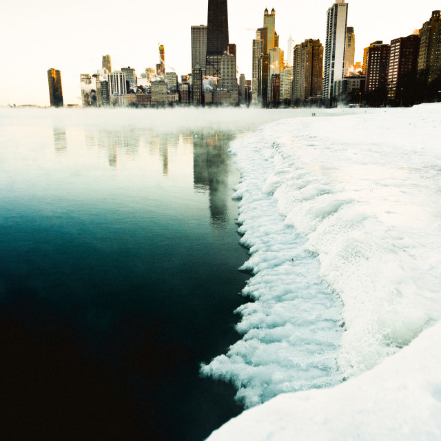 """Frozen Chicago"" stock image"