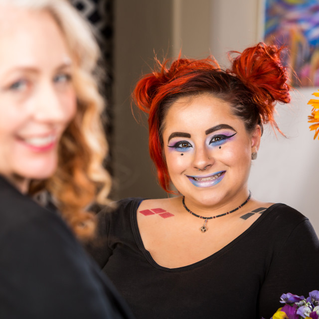 """""""Happy Mother Daughter Combo"""" stock image"""