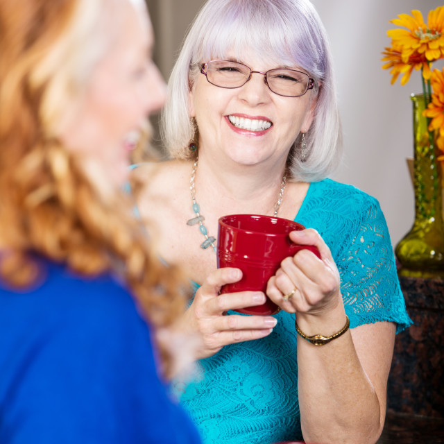 """""""Friends Share a Laugh"""" stock image"""